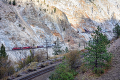 Geology Masterclass (whosoever2) Tags: cp cn canadianpacific canadiannational thompson river canyon rock train railway railroad scree track locomotive canada britishcolumbia nikon d7100 september 2016 ashcroftsub