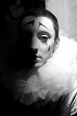 piero joker (10) (marianna.ruadze) Tags: theater greasepaint warpaint frill jabot pierrot black white drama georgia tears sadness halloween people new scary spooky history art