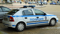 Police car in Sofia Bulgaria. (David Russell UK) Tags: police law enforcement car vehicle transport emergency service services city sofia bulgaria europe vauxhall astra opel outdoor blue light motor response