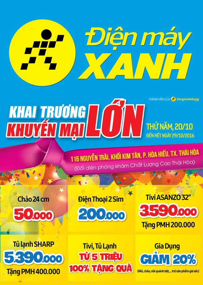 Khai trương siêu thị Điện máy XANH Thái Hòa, Nghệ An