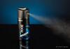 Spraying Deodorant (fugander) Tags: axe body spray bodyspray shower deo deodorant black blue plexi glass action hygien product phottix odin canon speedlite commercial reflection gradient