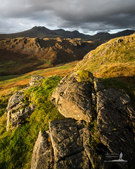 Scafell Range (Greg Whitton Photography) Tags: sony a7rii landscape england cumbria scafell pikeeskdale wasdale rock sunset golden hour bowfell eskpike lake district lakeland