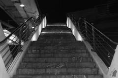 escaleras2 (Blue_Photography) Tags: noche bilbao estructura escaleras blanconegro monocromo