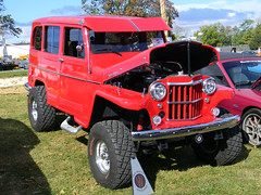 AOPA Wings and Wheels 2016 (Photo Squirrel) Tags: frederickmd frederickmunicipalairport aopa wingsandwheels 1960 willys willysoverland red