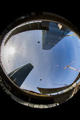 Citylife - Milano (Deivid82) Tags: milano milan blue blu azul vetro cristal italia italy skyscraper grattacielo rascacielo architettura architecture arquitectura
