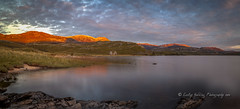 sundown, Loch Assynt (pixellesley) Tags: sundown sunset nightfall clouds colour hills loch lake assynt scotland landscape panorama longexposure lesleygooding autumn fall reflections sutherland