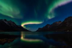 Magiske farger i Ersfjorden! (mirrormatch) Tags: fjord arcticlight hav ocean auroraborealis northernlights fjell mountains troms sky arctic nordlys kvalya ersfjorden sea kvalya troms