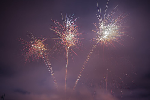 Fireworks at Cheltenham Racecourse