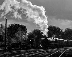 Steaming in the sunny rain (Nigel Gresley) Tags: lms 5690 leander east lancashire railway rain sunshine storm