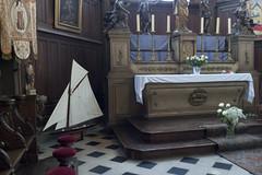 the altar inside the wooden church in Honfleur (tcd123usa) Tags: italyparislondon2016 seafarerschurch oldwoodenchurch marinemuseum honfleurnormandy france