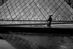 By leaving happy (pascalcolin1) Tags: paris louvre pyramide amoureux lovers night nuit lumire reflets rain reflection parapluie umbrella pluie streetview photoderue