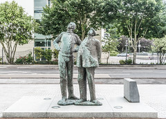 TWO WORKING MEN IN CORK [OISIN KELLYS SECOND PUBLIC ART INSTALLATION]-122299 (infomatique) Tags: twoworkingmen chaandmiah oisinkelly publicart williammurphy sculpture countyhall siptutradeunion everydayirishperson infomatique