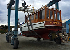 "IMG_9838 CE1 - Port Townsend WA - Shipyard - Classic Yacht Association - MV MARIAN II enroute Haven Boatworks (BlackShoe1) Tags: marianii lakeuniondrydockcorporation ludd 1928 wa washington washingtonstate wash pacificnorthwest pugetsound classicyachtassociation cya pacificnorthwestfleet classic httpportofptcom httpenjoyptcom ""quimper peninsula"" ""jefferson county"" ""east jefferson ""port townsend"" ""victorian seaport"" seaport porttownsendshipyard porttownsendboathaven portofporttownsend woodboat wooden boat travellift"