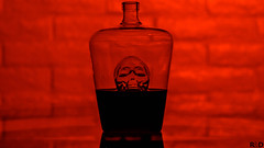 Blood Red (Amazing Aperture Photography) Tags: halloween october scary spooky creepy skull face red blood wine decanter reflection sonya6000 dark night glass liquid