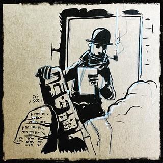 L'explorateur s'étonna que la carte au trésor acheté à un prix ridicule à un mendiant fou au fond d'une ruelle sombre du Caire était vrai #montreal #mtl #quebec #canada #ink #illustrations #sketch #draw #drawing #doodle #dailysketch #dailypic #vty_2016 #s