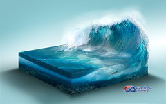Carlos atelier2 - A onda (Carlos Atelier2) Tags: carlos atelier2 mar azul natureza ondas gigante manipulao photoshop design