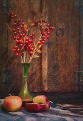 SL041216 Still Life 05 (Sh4un65_Artistry) Tags: artwork digitalart digitalpainting foodstuffs fruit niksoftware painteffect paintedphoto painterly plants pottery stilllife textiles textured topaz topazimpression topaztextureeffects woodwork