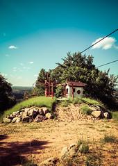 Ski Lift Bunker (J&E Adventures) Tags: trees upperpeninsula skiing uppermichigan iphone nature exploring ironmountain phonephotography up michigancoast puremichigan skilift michigan unitedstates us