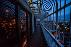 The Cage atop Seattle (matthucke) Tags: seattle smithtower observationdeck cage