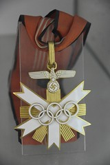 Medal from the 1936 Olympics (sfPhotocraft) Tags: olympicmedal 1936olympics german germany kln olympics olympicmuseum museum medal winner swastika