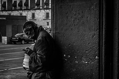For Times of Trouble. (Christian S. Mata) Tags: old man nikon d5300 black white street people mxico zcalo contrast 50mm