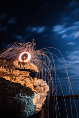IMG_0011-Modifica-Modifica-2_firmata (fruso94) Tags: steelwool longexposition sea night moon fire rock canon 600d wonderful nature