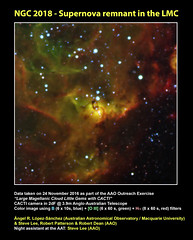 NGC 2018 - Supernova remnant in the LMC (angelrls, El Lobo Rayado) Tags: 2016 aao aat cacti astronomy ngc2018 outreach lmc supernovaremnant