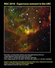 NGC 2018 - Supernova remnant in the LMC (angelrls, El Lobo Rayado) Tags: 2016 aao aat cacti astronomy ngc2018 outreach lmc supernovaremnant