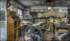 Ironbridge Printers 3 (Darwinsgift) Tags: ironbridge museum blists hill printers victorian town telford printing machine antique vintage history nikkor 20mm f18 g nikon d810 hdr photomatix