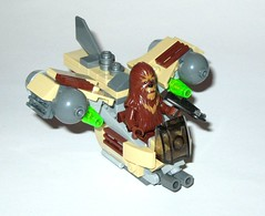 75129 1 lego star wars microfighters series 3 wookie gunship set 2016 c (tjparkside) Tags: 75129 1 lego star wars 2016 sw microfighters series 3 iii three wookie gunship kashyyyk ep episode 2 ii two attack clones revenge sith clone tcw aotc rots rebels missile missiles firing front guns back flap wing wings engine engines crossbow bowcaster weapon blaster disney set