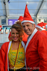 Alan Kennedy with Juliana from Katumba (James O'Hanlon) Tags: santadash santa dash katumba liam smith paul stephen liamsmith paulsmith stephensmith alankennedy philipolivier tinhead alan kennedy btr juliana ritchie photo shoot press ice rink icerink lfc