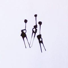 Three Fairies. Ink on paper. #drawings #ink #fairies