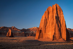 Sunrise: Temples of the Sun and Moon (wd.bowman) Tags: utah capitolreefnationalpark templeofthesun templeofthemoon cathedralvalley