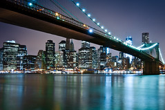 New York 2012 (John Erik) Tags: nyc longexposure urban usa ny newyork reflection brooklyn night lights nikon cityscape nightshot manhattan financialdistrict brooklynbridge eastriver nikkor d300 1024mmf3545g
