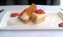 Creme Fraiche Mousse (elaynam) Tags: food dessert restaurant lemon creme brunch jam rhubarb sorbet sud mousse fraiche boulud oliveoilbiscuit