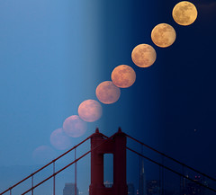Just the moon (exxonvaldez) Tags: sanfrancisco night goldengatebridge moonrise marinheadlands supermoon