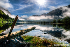 A Spring Morning at Lake Mittersee - expl..2 (alpenbild.de) Tags: wood morning cloud sun mountain lake mountains alps reflection tree nature water berg clouds forest landscape bayern bavaria see spring woods wasser natur wolke wolken berge alpen landschaft sonne wald reflexion morgen spiegelung baum hdr frhling morgens gebirge weitsee photomatixpro reitimwinkl 250fav