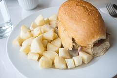 Pan Con Chicharron @ Inti (Vincci T) Tags: calgary peru restaurant sandwich fries inti yucca porkbelly