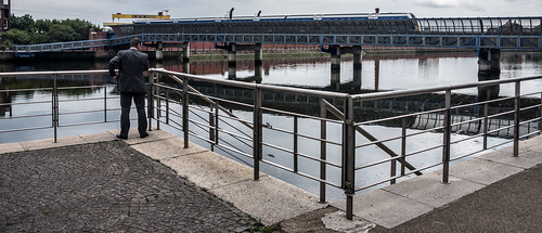 The Lagan Railway Bridge & Footbridge In Belfast - Northern Ireland