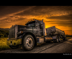 take a load off | emerald lake, ca (elmofoto) Tags: california sunset sky orange tractor black reflection northerncalifornia clouds truck photography diesel fav50 dramatic fav20 chrome parked norcal trailer roadside fav30 convoy hdr highdynamicrange sancarlos pf 500v peterbilt emeraldlake hittheroad leadinglines 1000v fav10 fav100 tonemapping fav40 1424 fav60 fav90 fav80 fav70 flickraward 1424mm flickraward5 flickrawardgallery elmofoto lorenzomontez