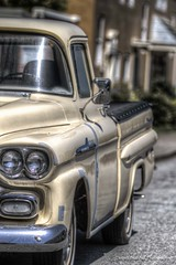 Chevy Truck (Dennis Mahfud) Tags: classic truck canon vintage lens blurry san francisco bokeh 4 headlights chevy 7d l lightroom 70200mm photomatix