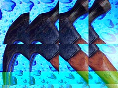 Hammer time (Baky) Tags: blue abstract color colour green art colors japan hammer weird colorful pattern colours arty bright artistic patterns nail jesus fake kitsch wacky hammertime cartoonish iphone barky  baky barkyvision