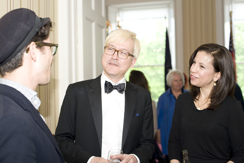 Gabe Klinger, Chris Fujiwara and Dana Linnet at the US Consulate Reception