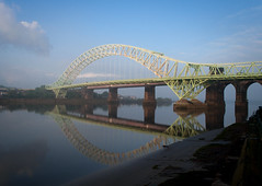 Runcorn bridge (S.fendley) Tags: bridge liverpool cheshire runcorn widnes halton silverjubileebridge merseyroad