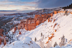 Bryce Amphitheater in Snow (Don Geyer) Tags: morning winter wild sky usa cloud nature ecology weather rock stone clouds sunrise landscape outside outdoors landscapes utah us spring ut scenery rocks view unitedstates natural cloudy outdoor stones scenic canyon springs valley views vista backcountry environment mornings vistas wilderness sunrises wintertime habitat canyons stormcloud winters scenics stormclouds springtime hoodoos ecosystem valleys environments wilds brycecanyonnationalpark habitats ecosystems naturalenvironment uncultivated wintertimes naturalenvironments springtimes bryceamphitheaterafterawinterstorm