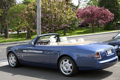 blue summer leaves greenwich rollsroyce miller roller phantom coupe ragtop motorcars droptop drophead suicidedoors 101ex