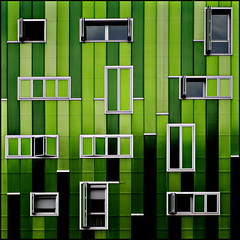 Eco? (Maerten Prins) Tags: madrid new windows building green lines modern facade spain spanje explored