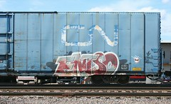 Entso (quiet-silence) Tags: railroad art cn train graffiti flat railcar boxcar graff freight canadiannational fr8 autoparts entso cna795028