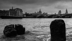 On The Rocks (www.electricalimage.com) Tags: london monochrome landscape cityscape stpauls southbank riverthames chriswright electricalimage