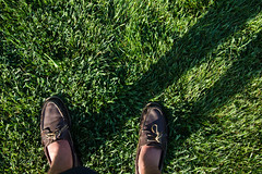 All of a Sudden I Miss Velvia (AnkySoho) Tags: camera shadow color green grass photoshop canon eos iso100 spring shoes shadows adobephotoshop michigan annarbor mosquito canoneos ankur asa100 boatshoes canonphotography 60d canon60d photoshoplightroom canoneos60d abobephotoshoplightroom ankursohoni